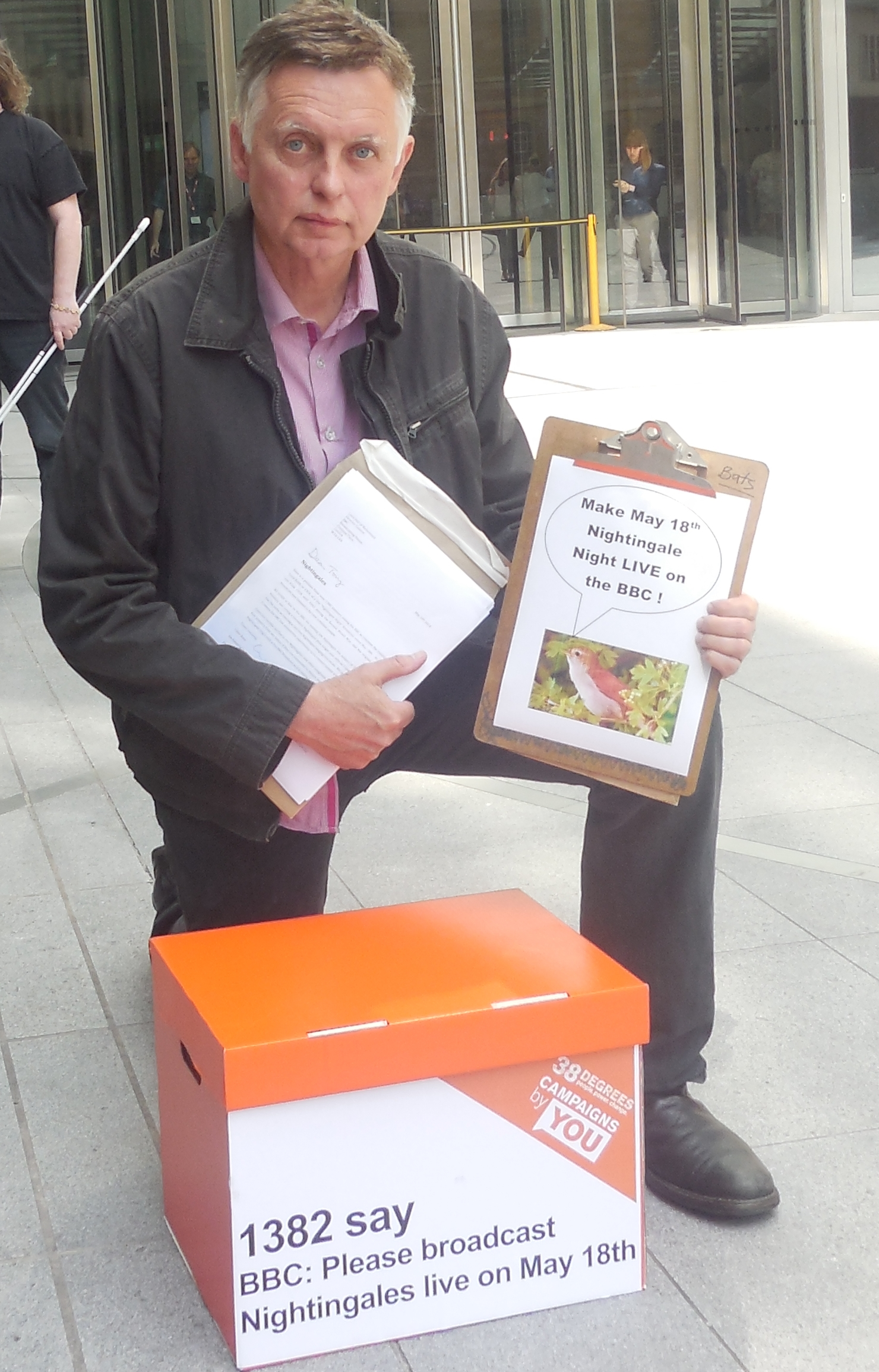 delivering nightingale petition to bbc may 2014 2