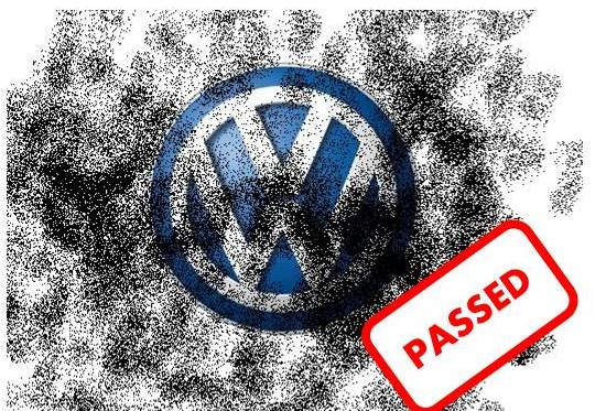 vw logo passed