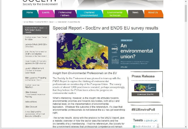soc env ends eu study